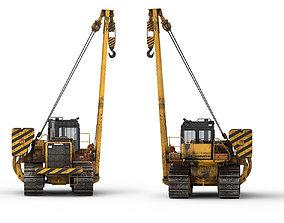 3D Tractor Komatsu D 355 C 3 Dirt hquality