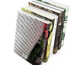 Books Set 3D architectural