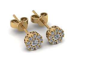 Earrings earrings diamond 3D print model