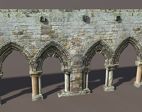 Arcade Wall Seamless Low poly 3D asset