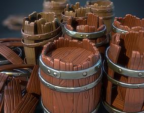 3D model Stylized Barrel Pack