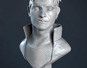 Naruto sculpture bust 3D print model