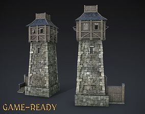 3D asset realtime Guard Tower