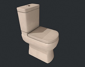 3D asset Toilet - Low Poly Toilet - White Toilet
