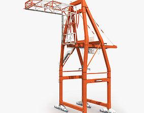 Port Container Crane 2 3D model