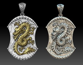 3D printable model Chinese Dragon Pendant jewelry