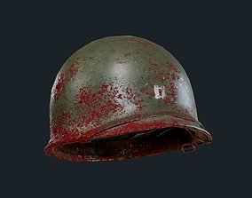 WW2 American Soldier Military Helmet Game 3D asset 1