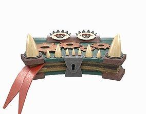 Toothy Book Under Lock 3D asset