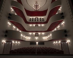 3D model Theater- auditorium - stage -