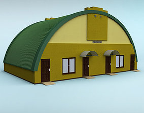 3D office Rounded building