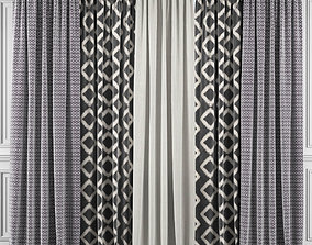 Curtain Set 354 3D model