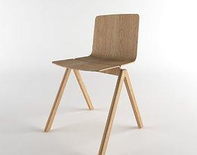 wood chair 3D printable model