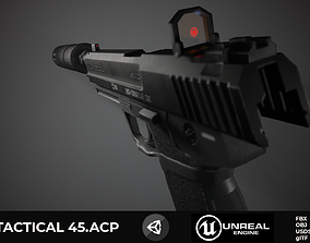 HK USP Unreal and Unity 3D asset low-poly