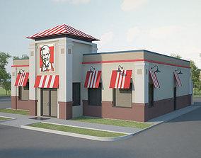 3D model KFC Restaurant 01