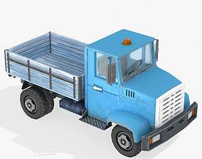 3D asset Cartoon Truck Lowpoly