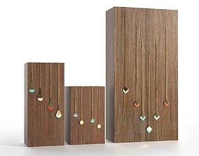 3D model Wooden Block Jewelry Display