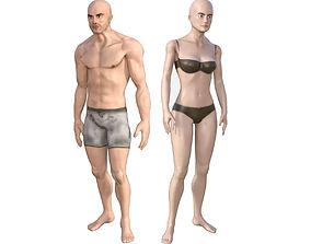 3D model Human Character Base Pack