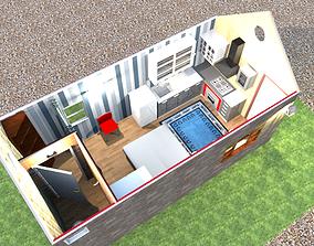 1 room house 3D