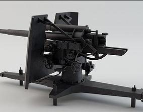 88 Flak Gun WW2 Game-Ready 3D asset