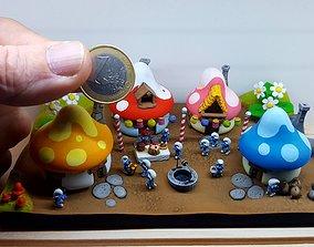 FANART - smurf - DIORAMA 3D print model