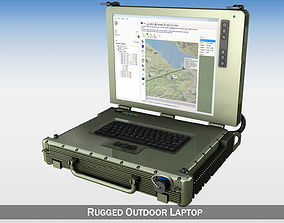 Rugged Military outdoor laptop 3D