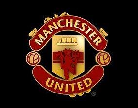 3D model Man United logo