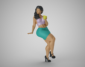 3D print model Modern City Woman 4