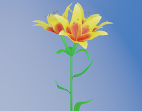 nature 3D Lily flower