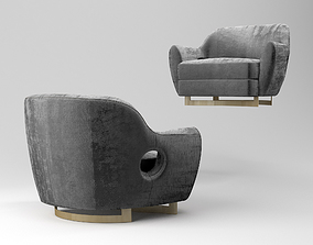 3D model Gumi amrchair 120 and armchair 150 with ottoman 1