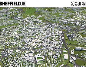 exterior 3D Sheffield UK