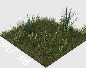 3D model Blender Grass Asset Pack