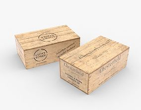 Cigarettes Wooden Boxes WWII 3D model