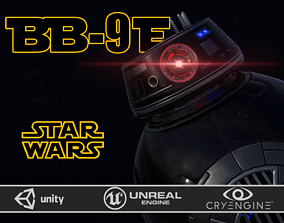 3D asset BB-9 E Imperial color and BB-9 E rebels two