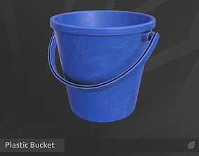 3D asset low-poly Plastic Bucket