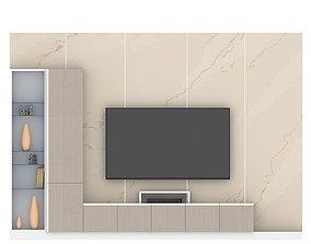 3D model wall tv unit