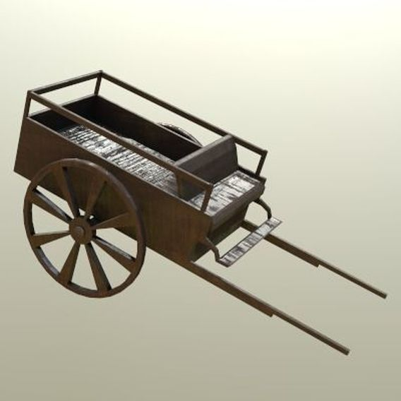 Carriage Horse Wagon PBR