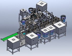 3D Motor automatic assembly production line machine