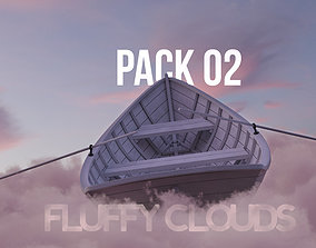 Fluffy Clouds Pack 02 and Cloud Node Shader for 3D model