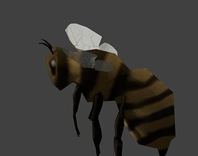 3D model rigged low poly bee