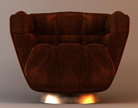 Bolton Haylee Velvet Swivel Accent Chair 3D