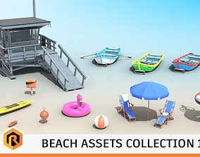 3D model Beach Assets Collection 1