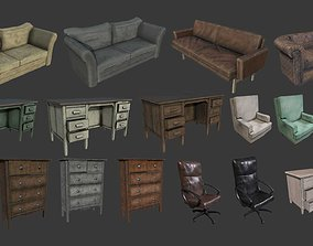 Old Furniture Asset pack low-poly