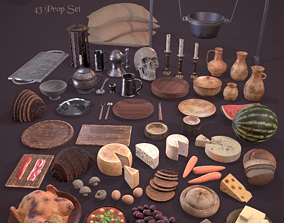 3D model Medieval Kitchen Essentials