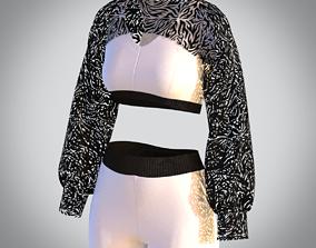 3D Zebra top