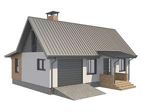 Cottage House 2 3D asset