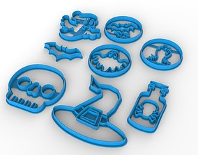 3D print model Halloween cookie cutters set