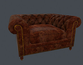 Leather Sofa Chair 3D asset