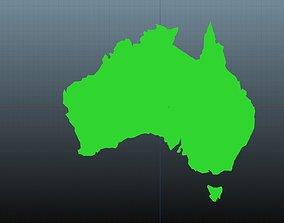 Australia map symbols 3D model