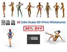 C2 10 figures attractive woman 3D model