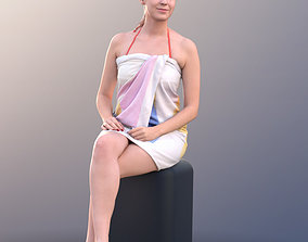 3D model 10457 Elena - Young Woman In Towel Sitting In A